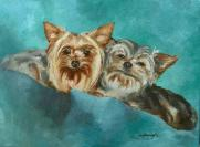 Oil Painting Yorkie Yorkshire Terrier Pet Portrait Dog Painting
