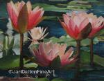 Original Acrylic painting morning water lilies Cypress Gardens SC